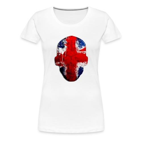 Borg recordings uk Union flag MetaSkull T Shirt - Women's Premium T-Shirt
