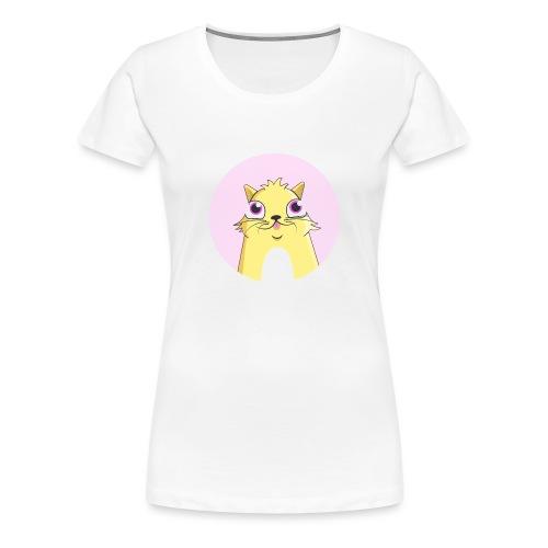 CryptoKitty Geel - Vrouwen Premium T-shirt
