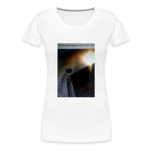 'tis morgend voor iedereen - Vrouwen Premium T-shirt