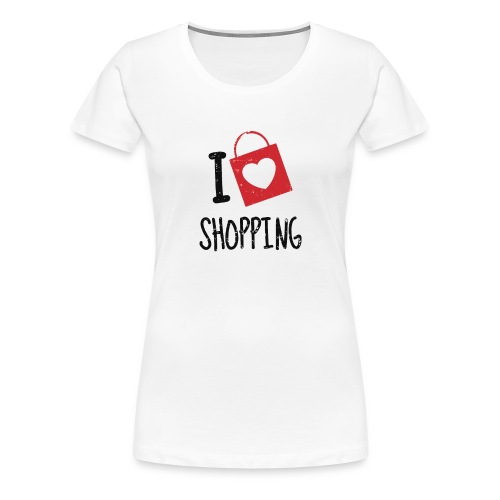 I Love Shopping - Camiseta premium mujer