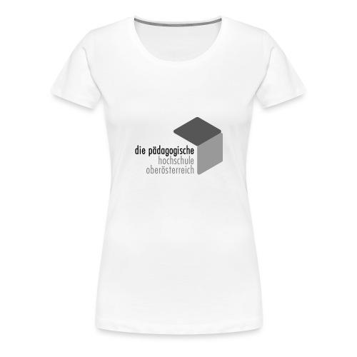 PH OOE Logo grau - Frauen Premium T-Shirt