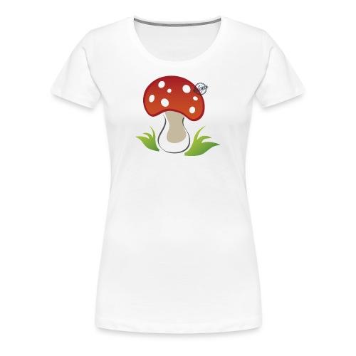 Mushroom - Symbols of Happiness - Women's Premium T-Shirt