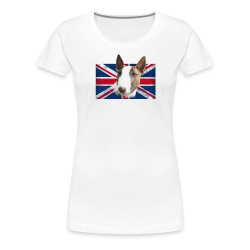 Bullterrier UK grunge Flag - Frauen Premium T-Shirt