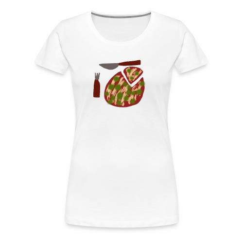 Eine Pizza - Frauen Premium T-Shirt