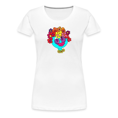 flowergirl blau - Frauen Premium T-Shirt