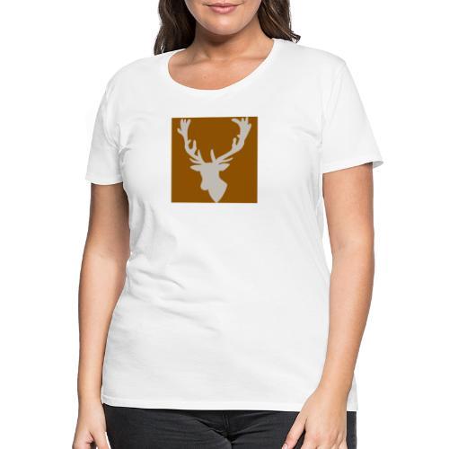 Hirch B BROWN WHITE - Frauen Premium T-Shirt