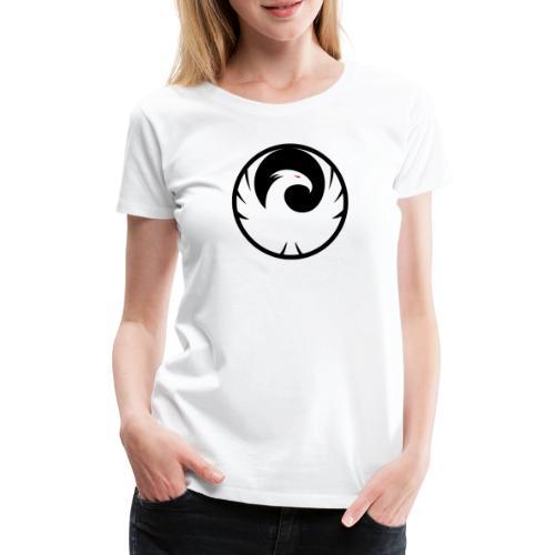 Phönix Logo Schattierung Phoenix schwarz black - Frauen Premium T-Shirt