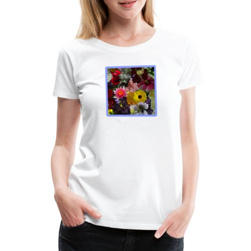 in BLUMEN GESTYLT = FLOWERS COLOR for EVERYBODY - Frauen Premium T-Shirt