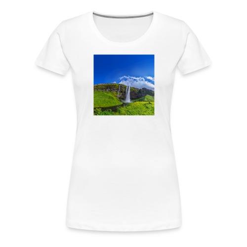 Seljalandsfoss - Frauen Premium T-Shirt