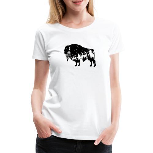 Die wilde Natur im Bison - Frauen Premium T-Shirt
