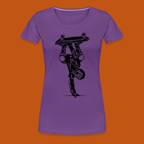 Skater / Skateboarder 02_schwarz - Frauen Premium T-Shirt