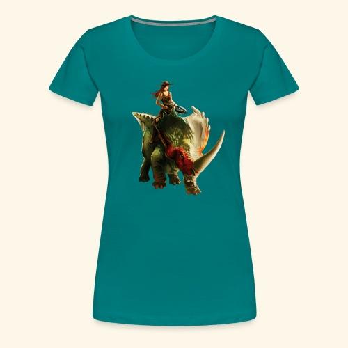 Dino Storm - Women's Premium T-Shirt