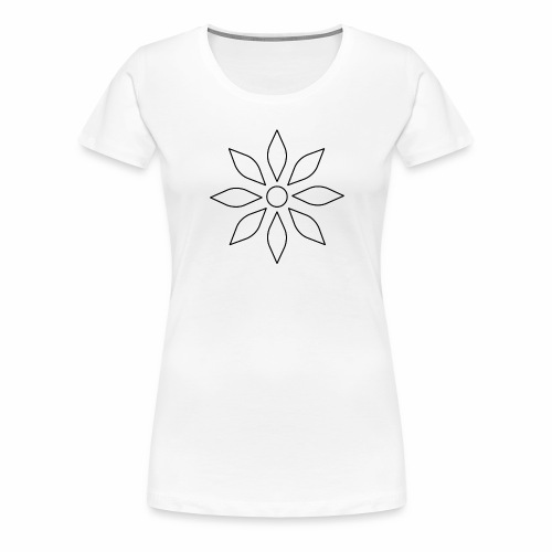 Kaleidoscope Sunflower - Black Edition - Frauen Premium T-Shirt