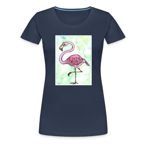 Flamingo - Dame premium T-shirt