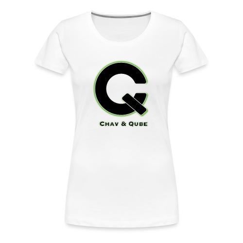Chav & Qube Logo Zwart - Vrouwen Premium T-shirt