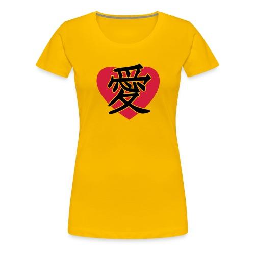 JapaneseLoveSign&Heart - Dame premium T-shirt
