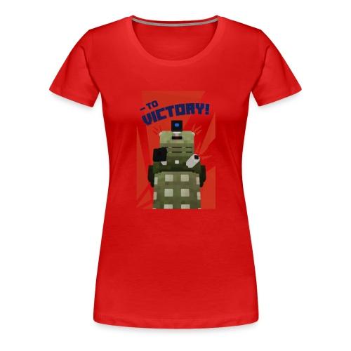 Dalek Mod - To Victory - Women's Premium T-Shirt