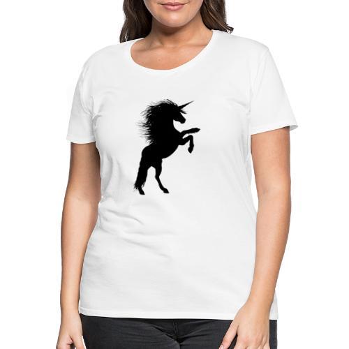 Einhorn Silhouette 3 - Frauen Premium T-Shirt