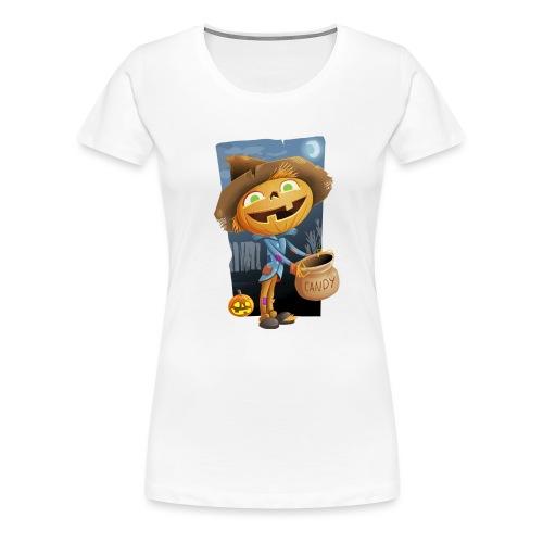 Halloween Citrouille et Friandises - T-shirt Premium Femme