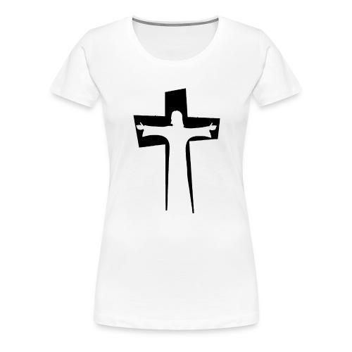 Abstrakt Jesus på korset - Premium-T-shirt dam
