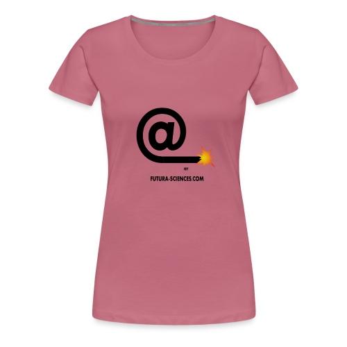 arobase meche noir - T-shirt Premium Femme