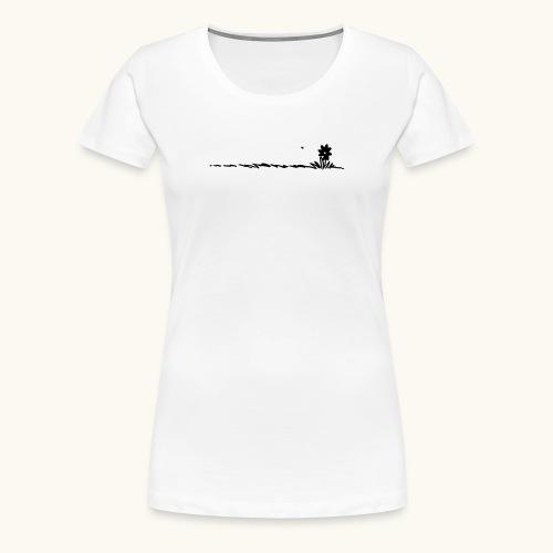 fleur de bande dessinée dans l'herbe avec des insectes - T-shirt Premium Femme