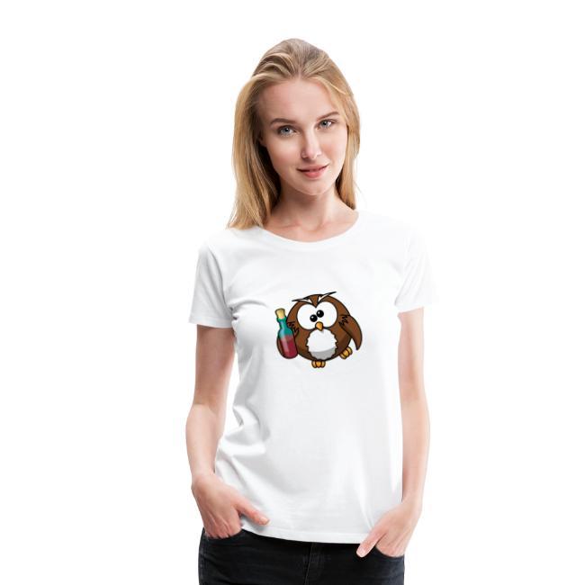 release date f8626 e7254 T-Shirt selbst gestalten sehr billig Eule   Frauen Premium T-Shirt
