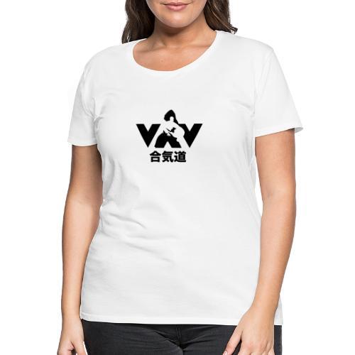 aikido voor en achterkant - Vrouwen Premium T-shirt