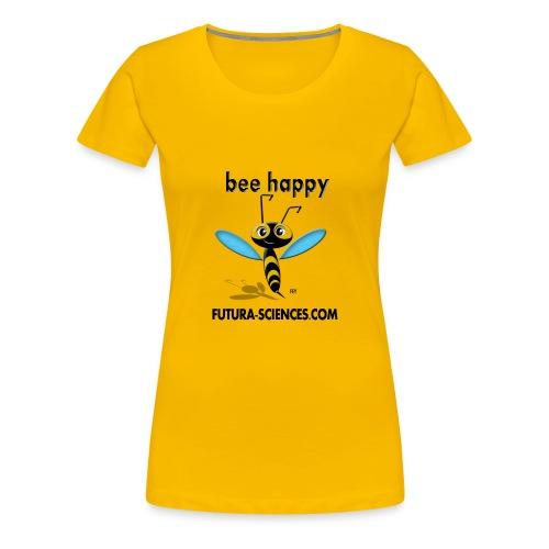 bee happy bon dpi black - T-shirt Premium Femme