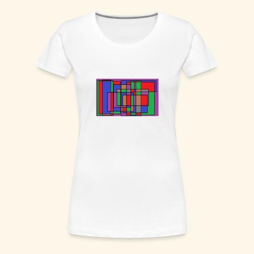 qwe art - Premium-T-shirt dam