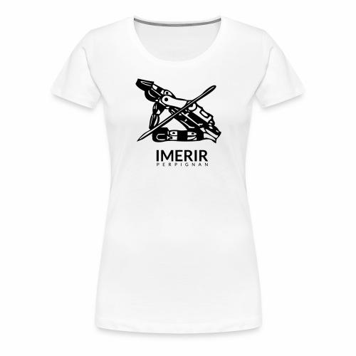 Ancien logo Imerir Noir - T-shirt Premium Femme