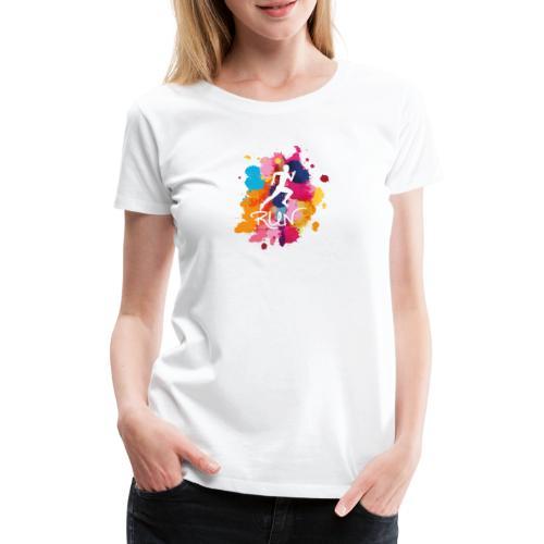 RUN Bunt - Frauen Premium T-Shirt