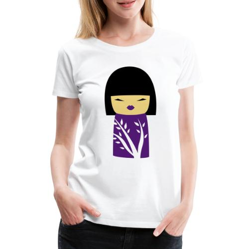 Motif Poupée Japonaise 1 - T-shirt Premium Femme