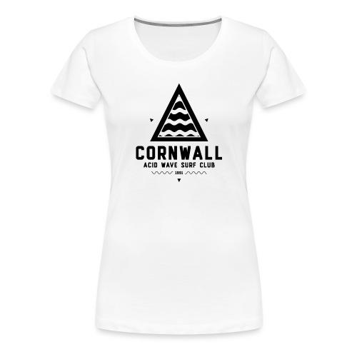 Cornwall Acid Wave Surf Club - Women's Premium T-Shirt