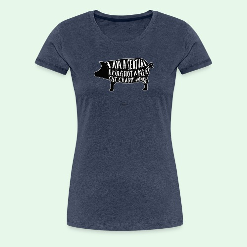 Sentient Being - Black - Premium-T-shirt dam