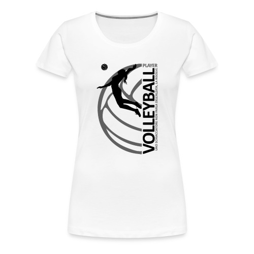 Volleyball player WOMAN black - Maglietta Premium da donna