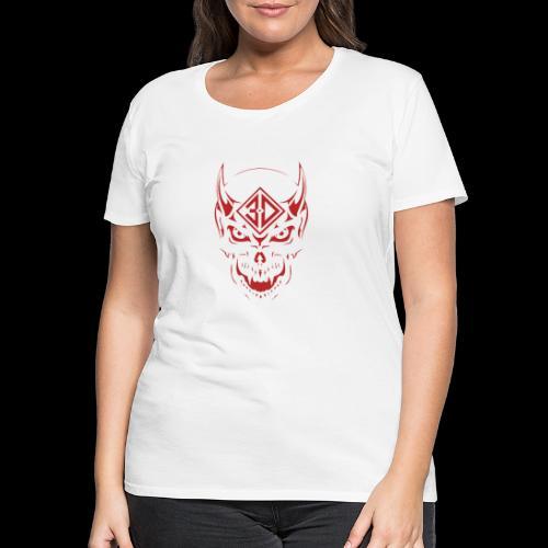 devil skull red - T-shirt Premium Femme