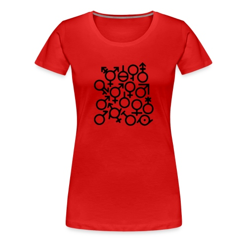 Multi Gender B/W - Vrouwen Premium T-shirt