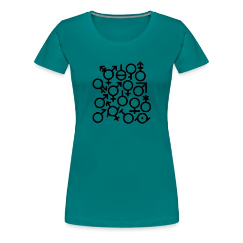 Multi Gender B/W - Vrouwen Premium T-shirt