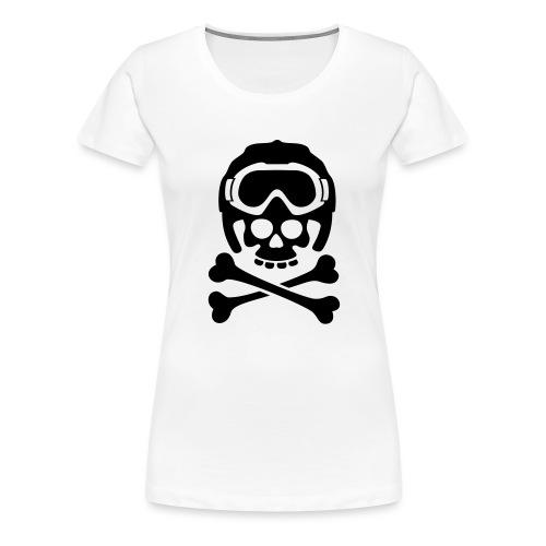 snowboard totenkopf1 - Frauen Premium T-Shirt