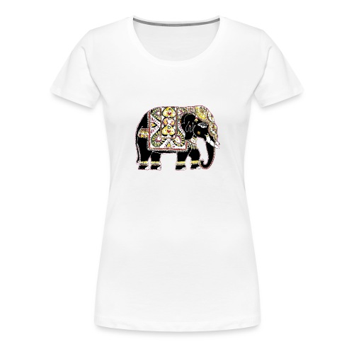 Indian elephant for luck - Women's Premium T-Shirt