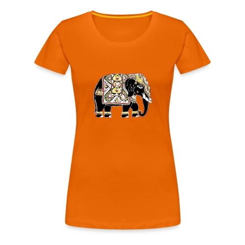 Indian elephant for luck - Women's Premium T-Shirt