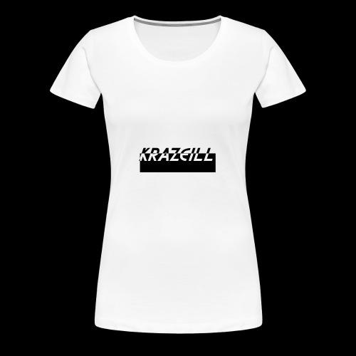 KrazeiLL Box Logo Black and White - Women's Premium T-Shirt