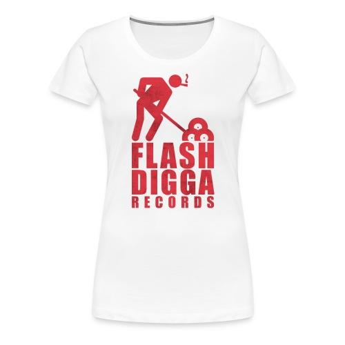 Flashdigga Rot - Frauen Premium T-Shirt