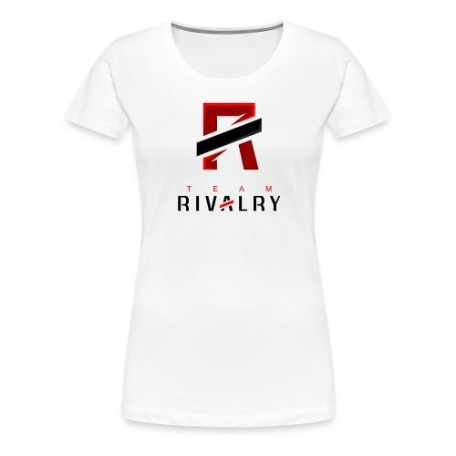 TeamRivalry black bar design - Frauen Premium T-Shirt