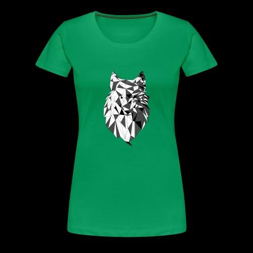 Polygoon wolf - Vrouwen Premium T-shirt