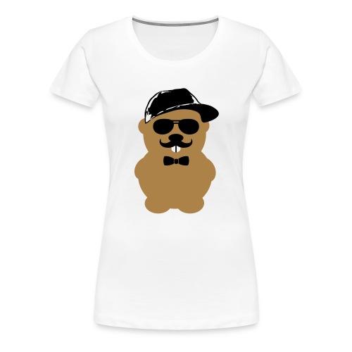 Hipster Hamster 2 - Frauen Premium T-Shirt