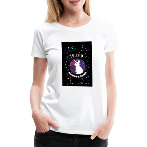 I believe in bunnycorns Einhorn Hasen Kaninchen - Frauen Premium T-Shirt