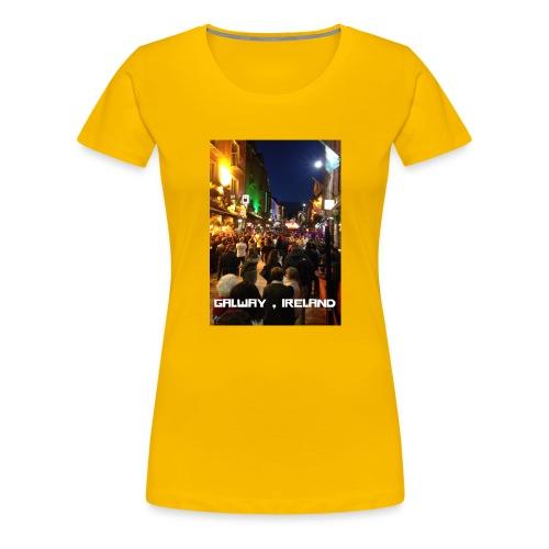 GALWAY IRELAND SHOP STREET - Women's Premium T-Shirt
