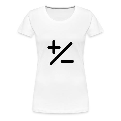 PLUSminus - Frauen Premium T-Shirt